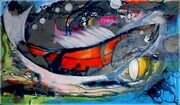 Big Fish acrylic & enamel on canvas