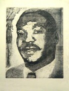 Martin Luther King copper etching on acid free paper