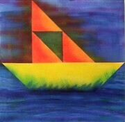 """The Boat ""acrylic on canvas 24""x24"""